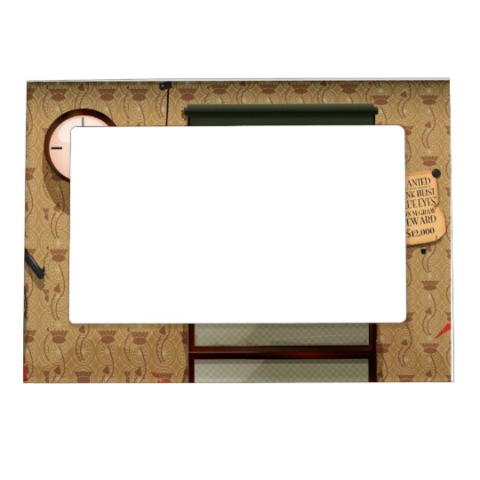 Detective agency magnetic picture frame