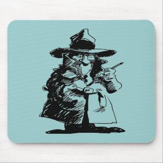Detective astuto detective del misterioso asesinat alfombrilla de ratón