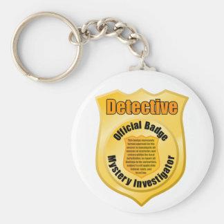 Detective Badge Keychain