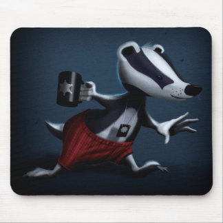 Detective badger mouse pad