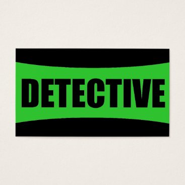 Professional Business Detective Business Card