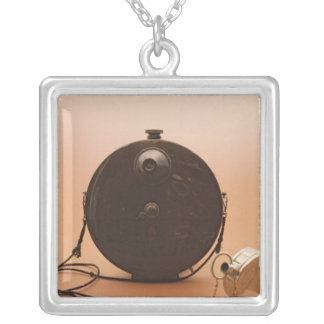 Detective cameras square pendant necklace