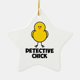 Detective Chick Christmas Ornament