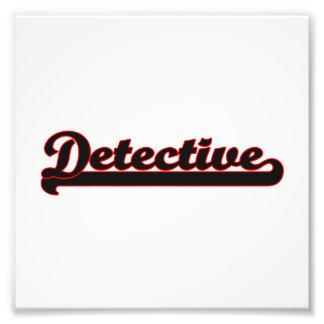 Detective Classic Job Design Photo Print