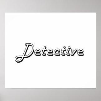 Detective Classic Job Design Poster
