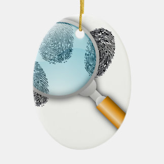 Detective Clues Find Finger Fingerprints Mystery Ceramic Ornament
