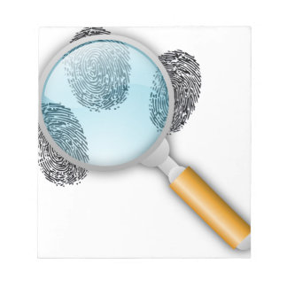Detective Clues Find Finger Fingerprints Mystery Memo Note Pad