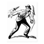 Detective cómico del vintage del kitsch que postal