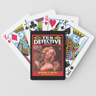 DETECTIVE Cool Vintage Pulp Magazine Cover Art Bicycle Playing Cards