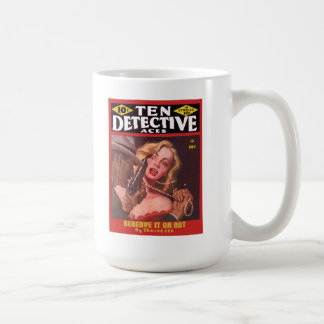 DETECTIVE Cool Vintage Pulp Magazine Cover Art Coffee Mug