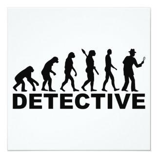 """Detective de la evolución invitación 5.25"""" x 5.25"""""""
