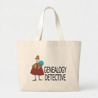 Detective de la genealogía bolsa tela grande