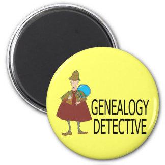 Detective de la genealogía iman de nevera