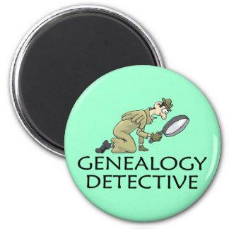 Detective de la genealogía imán de nevera