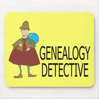Detective de la genealogía tapete de ratones