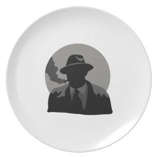 Detective de la película platos
