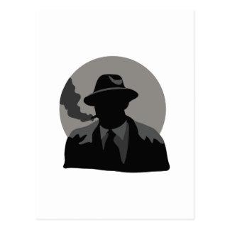 Detective de la película postales
