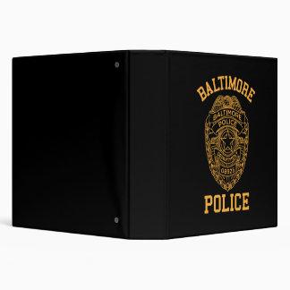 """detective de Maryland de la policía de Baltimore Carpeta 1 1/2"""""""
