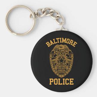 detective de Maryland de la policía de Baltimore Llavero Redondo Tipo Pin