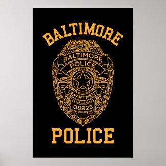 detective de Maryland de la policía de Baltimore Póster