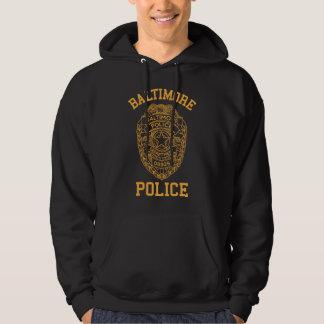 detective de Maryland de la policía de Baltimore Pulóver Con Capucha