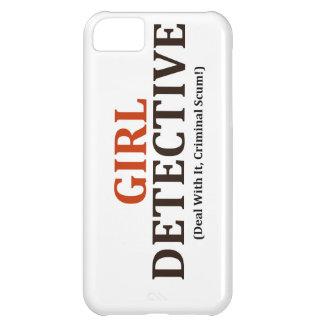 Detective del chica (trato con él, espuma criminal funda para iPhone 5C
