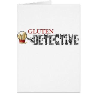 Detective del gluten tarjeta de felicitación