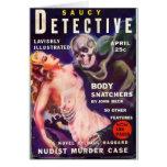 Detective descarado tarjeta
