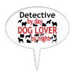 Detective Dog Lover Cake Toppers