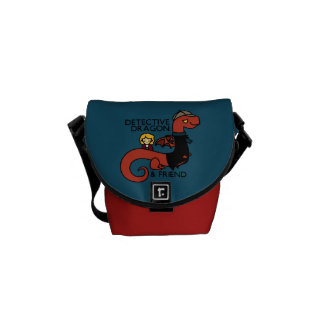 detective dragon and friend messenger bag