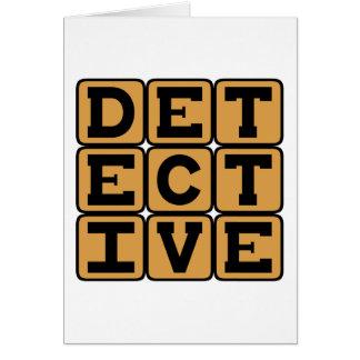 Detective, Hard-Boiled Gumshoe Card
