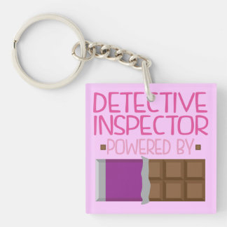 Detective Inspector Chocolate Gift for Her Keychain