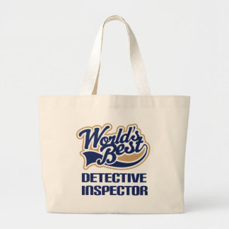 Detective Inspector Gift For (Worlds Best) Large Tote Bag