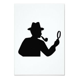 """Detective Invitación 3.5"""" X 5"""""""