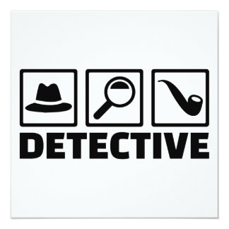 """Detective Invitación 5.25"""" X 5.25"""""""