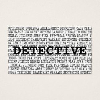 Detective Legal Words Business Card