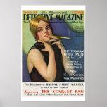 Detective Magazine Vintage Magazine Cover Poster