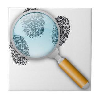 Detective Magnifying Glass Ceramic Tile
