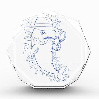 Detective Orca Killer Whale Drawing Acrylic Award