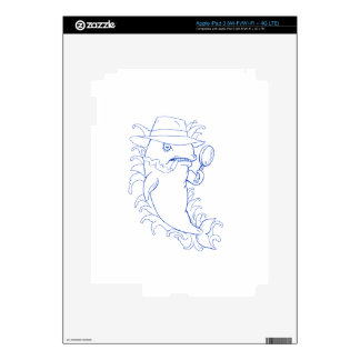 Detective Orca Killer Whale Drawing iPad 3 Decal
