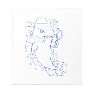 Detective Orca Killer Whale Drawing Notepad