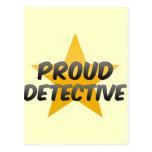 Detective orgulloso tarjetas postales