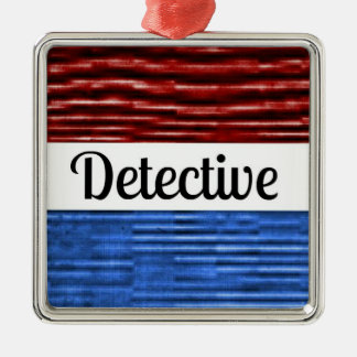 Detective Patriotic Christmas Ornament