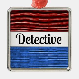 Detective Patriotic Christmas Ornament