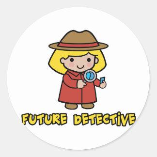 Detective Pegatina Redonda