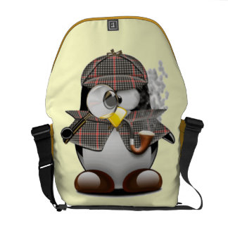 Detective Penguin Messenger Bag