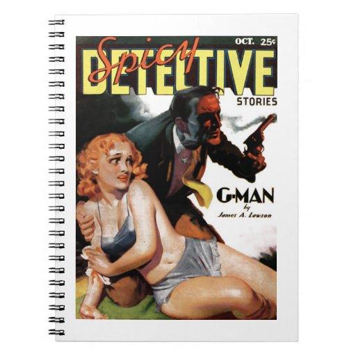 """Detective picante - cuaderno del """"G-Man"""""""