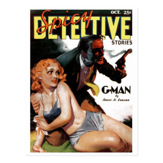 "Detective picante - postal del ""G-Man"""
