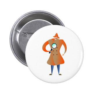 Detective Pinback Button