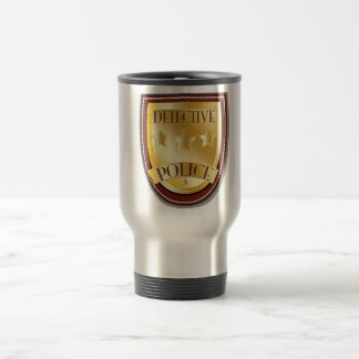 Detective Police Badge Travel Mug